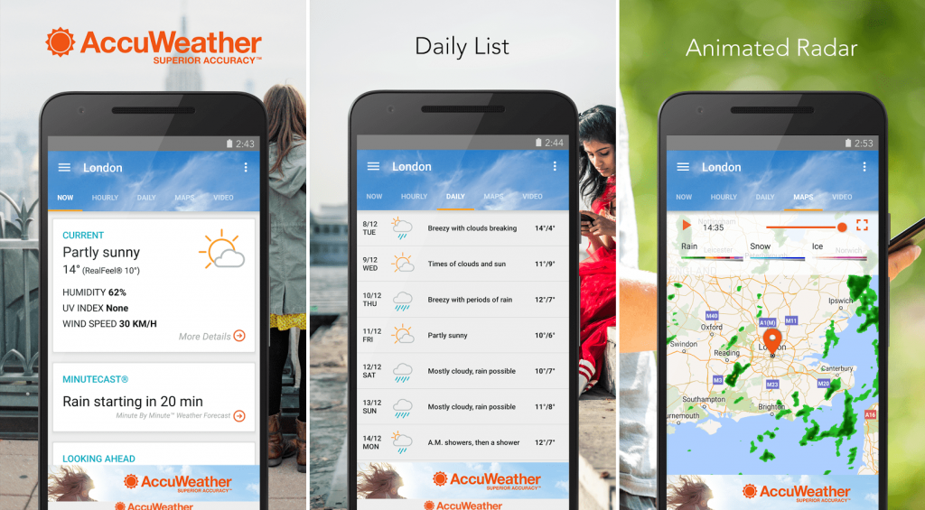 Best Weather App List: 10 of the Highly Admired Forecasting App to